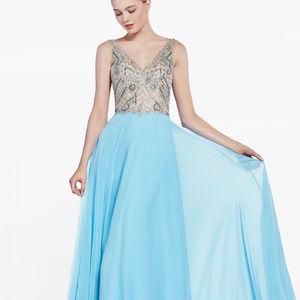 A-Line Shape Chiffon Long Prom Dress CD71190